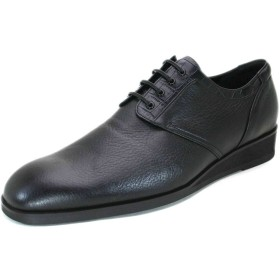 (ラクセル)LUXCEL ワイズも選べる ディア/クロコダイル型押 ロングノーズプレーントゥ紳士靴 LC8005 4E 日本製・自社内製造 (26.5)