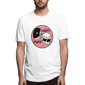 Daft Punk ダフト パンク1 Tシャツ 半袖 カジュアル ブラック スポーツ 丸首 夏服 S~6XL 柔らかい おしゃれ Man