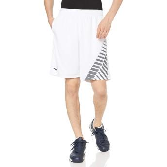 [ミズノ] テニスウェア ゲームパンツ 吸汗速乾 ドライ 部活 練習 試合 ソフトテニス バドミントン認定 男女兼用 62JB8021 ホワイト S