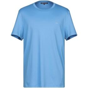 《期間限定 セール開催中》MICHAEL KORS MENS メンズ T シャツ アジュールブルー XL コットン 100%