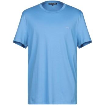 《9/20まで! 限定セール開催中》MICHAEL KORS MENS メンズ T シャツ アジュールブルー XL コットン 100%