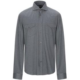 《期間限定 セール開催中》BRUNELLO CUCINELLI メンズ シャツ 鉛色 S コットン 100%