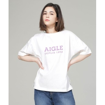 【公式/ナノ・ユニバース】別注ロゴTシャツ 5000円以上送料無料【AIGLE】