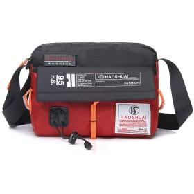 ショルダーバッグ メンズ バッグ カバン Victorics 大容量 カジュアル ファッション 機能 防水 便利 レッド