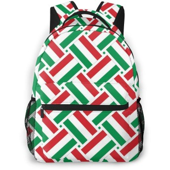 リュック ハンガリーの旗 バックパック リュックサック 大容量 軽量 耐久性 アウトドア 学生 通学 外出 男女兼用