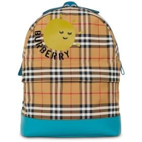 Burberry Kids プリント チェック バックパック - ニュートラル