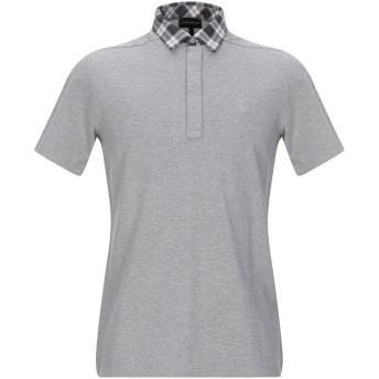 《期間限定セール開催中!》EMPORIO ARMANI メンズ ポロシャツ グレー S コットン 100%