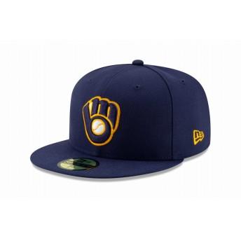 NEW ERA ニューエラ 59FIFTY MLB オンフィールド ミルウォーキー・ブルワーズ オルタネイト2 ベースボールキャップ キャップ 帽子 メンズ レディース 7 1/2 (59.6cm) 12026662 NEWERA