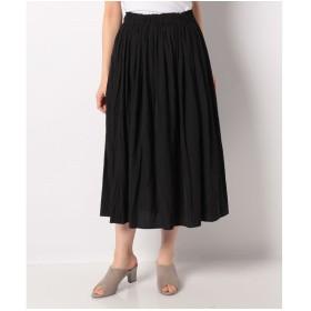 Bou Jeloud 【セットアップ対応商品】気流染めマットサテンスカート(ブラック)【返品不可商品】