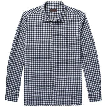 《期間限定セール開催中!》ALTEA メンズ シャツ ダークブルー 40 コットン 96% / ポリウレタン 3% / ナイロン 1%