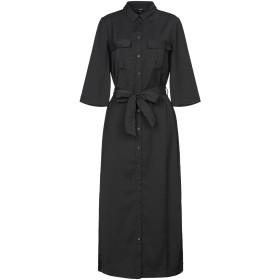 《セール開催中》VERO MODA レディース ロングワンピース&ドレス ブラック XS ポリエステル 100%