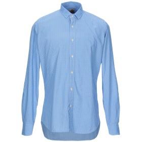 《9/20まで! 限定セール開催中》MOSCA メンズ シャツ アジュールブルー 41 コットン 100%