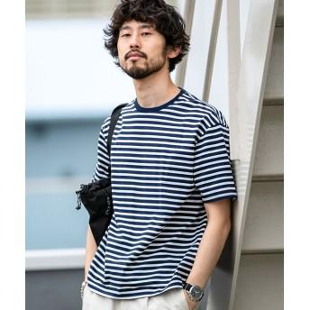 【WEB限定】シルケットボーダービッグTシャツ 半袖 5000円以上送料無料【公式/ナノ・ユニバース】