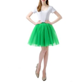 FydRise チュチュスカート るふわふわTUTU スカート カラーパニエ結婚式 グリーン