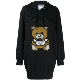 Moschino Teddy Bear hoodie dress - ブラック