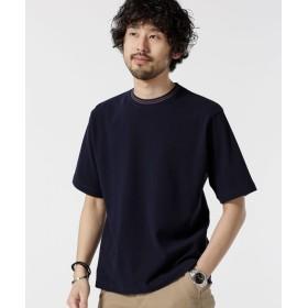 カノコ編みリブ配色クルーネックTシャツ 5000円以上送料無料【公式/ナノ・ユニバース】