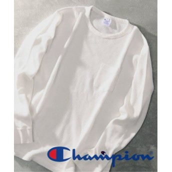 417 EDIFICE CHAMPION / チャンピオン 417 別注 THERMAL LONG SLEEVE TEE ホワイト L