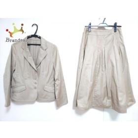 ヒロコビス HIROKO BIS スカートスーツ サイズ13AB L レディース ライトブラウン   スペシャル特価 20191003