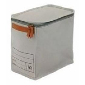 【2個セット】 キャンバスストレージ/整理 収納ボックス 【03 グレー】 幅18cm×奥行25cm×高さ25cm 『モック』