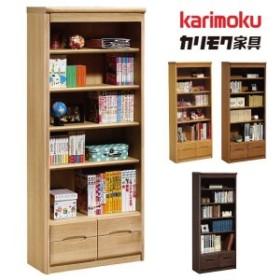 カリモク karimoku 書棚 フリーボード HT2365 高級家具 日本製 スタンダードモダン 天然木 オーク材 木製フリーラック 引出し付き 本棚