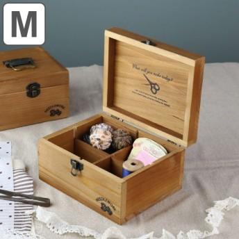 ソーイング ボックス NEEDLEWORK ウッドソーイングボックス M A319 ( ソーイングボックス 手芸用品 手芸 道具箱 収納ボックス )