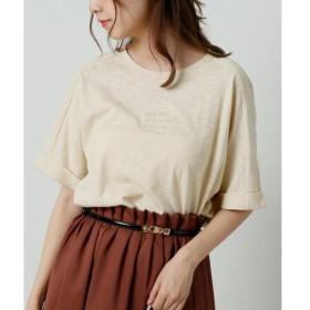 [マルイ]【セール】スラブ天竺ロゴ刺繍Tシャツ/レイカズン(RAY CASSIN)