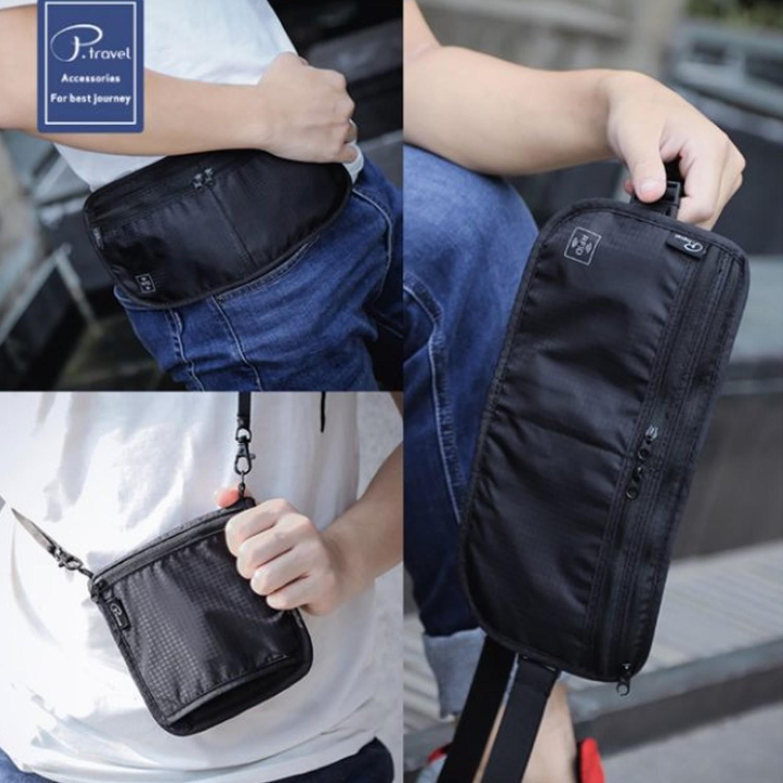 P.travel - 隨身3in1防盜包-黑色