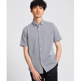 TAKEO KIKUCHI(タケオキクチ) シアサッカーストライプ ジャージシャツ