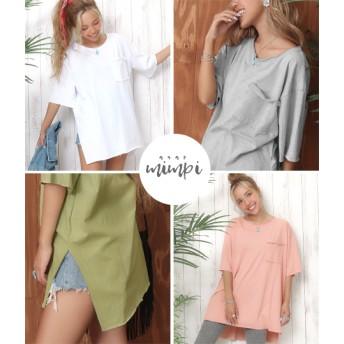 anap mimpi アナップミンピ カットオフスリットTシャツ