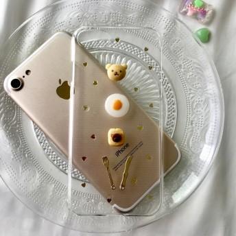 くまさんパンセット iPhoneケース スマホケース スマホカバー Android クリア