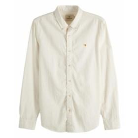 スコッチ&ソーダ シャツ ◆ SCOTCH&SODA Garment Dyed Shirt Regular fit クリーム 292-71440 メンズ トップス 長