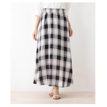 SHOO・LA・RUE(Ladies)(シューラルー(レディース))【WEB限定サイズあり】レーヨン×リネンロングスカート