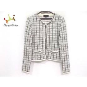 アンタイトル UNTITLED ジャケット サイズ2 M レディース 美品 アイボリー×黒 春・秋物 新着 20190718