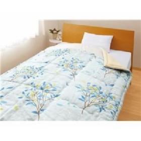 メキシコ綿入り 肌掛け布団 【ひより ブルー1枚】 シングル 日本製 綿100% 〔ベッドルーム 寝室〕