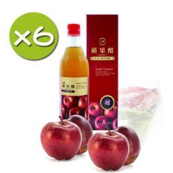 【台糖】蘋果醋x6瓶入(600ml/瓶)