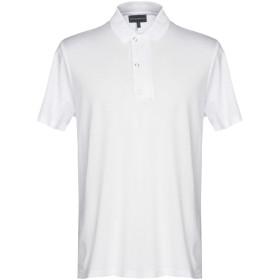 《期間限定セール開催中!》EMPORIO ARMANI メンズ ポロシャツ ホワイト S テンセル 70% / コルベラ 30%