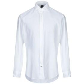 《期間限定セール開催中!》TRUZZI メンズ シャツ ホワイト 45 コットン 100%