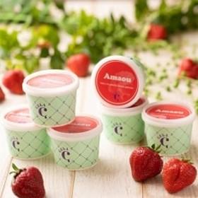 【のし付き】フルーツソムリエが作った濃厚『福岡産あまおうミルクアイス・あまおうジェラート』