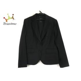 ニジュウサンク 23区 ジャケット サイズ46 XL レディース 黒 肩パッド 新着 20190717