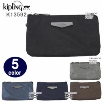 キプリング ポーチ K13592 Kipling Creativity L ロゴプレート  ペンシルケース 化粧ポーチ ag-859100