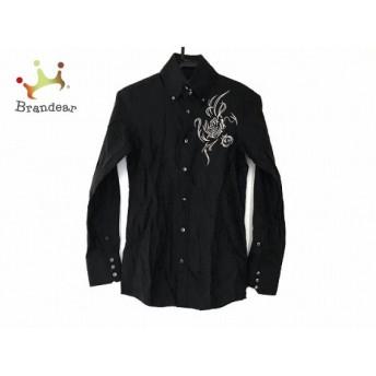 トルネードマート 長袖シャツ サイズM メンズ 黒×ダークグレー 花柄/刺繍/ビジュー 新着 20190717