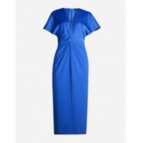 テッドベーカー TED BAKER レディース ワンピース ワンピース・ドレス Ellame wrap-waist crepe dress Brt-blue