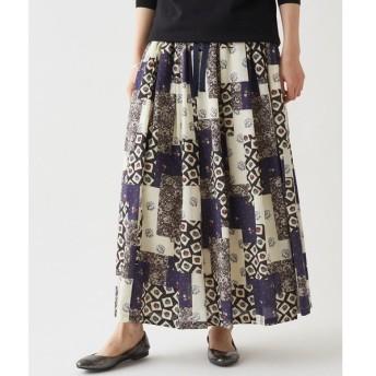 BEARDSLEY / ビアズリー パッチワークプリントスカート