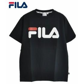 メール便OK フィラ Tシャツ FILA HALF SLEEVE TEE SHIRT ブラック FM9595 メンズ トップス 半袖 TEE ロゴ