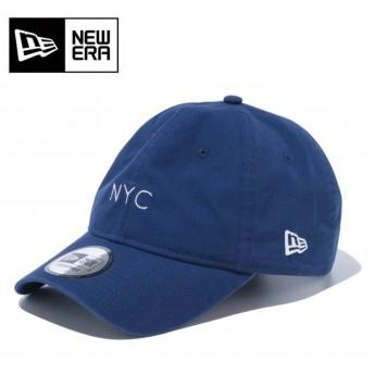 NEWERA ニューエラ 9THIRTY クロスストラップ キャンバス nyc ミニロゴ ナイトブルー × スノーホワイト 12109004 【キャップ/帽子/アウトドア/スポーツ】