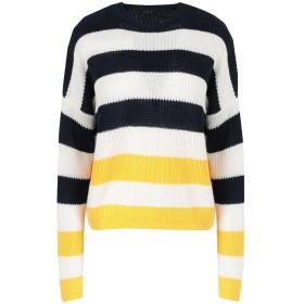 《期間限定セール開催中!》POLO RALPH LAUREN レディース プルオーバー ダークブルー XS 麻 100% Striped Linen Sweater