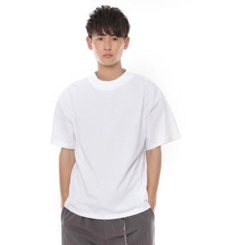 Tシャツ - SPINNS【MEN】 モックネック無地Tシャツ