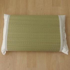 枕パッド 国産い草使用 『無地 枕パッド かため』 ストライプグリーン 約50×63cm 3659689