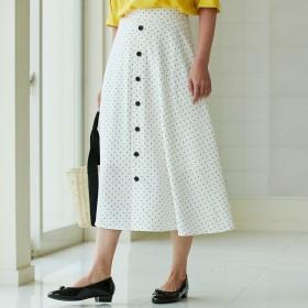 HusHusH(Ladies)(ハッシュアッシュ)/ドットツイルAラインロングスカート
