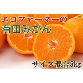 [厳選]エコファーマーの紀州有田みかん5kg(サイズ混合) 【和歌山厳選館】